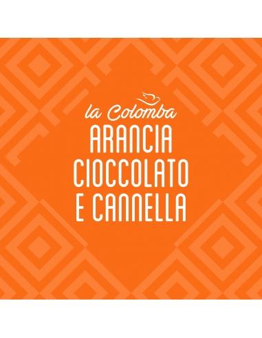 Colomba arancia, cioccolato e cannella