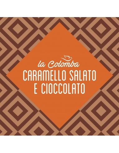 Colomba caramello salato e cioccolato